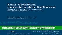 Read Text-Brücken zwischen den Kulturen: Festschrift zum 70. Geburtstag von Bernd Spillner