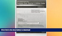 Read Book Scott Foresman Reading Street Common Core Teacher s Edition Index, Grade 4