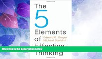 Price The 5 Elements of Effective Thinking Edward B. Burger For Kindle