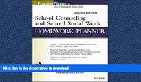 Pre Order School Counseling and School Social Work Homework Planner