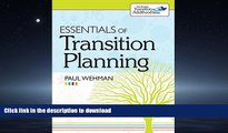 Read Book Essentials of Transition Planning