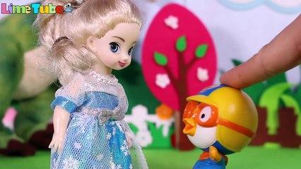 공룡이 나타났어요! 라임아 도망가!! 뽀로로 엘사 겨울왕국 장난감 Dinosaur & Frozen Elsa LimeTube & Toy 라임튜브