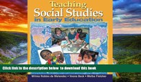 Pre Order Teaching Social Studies in Early Education (Early Childhood Education) Wilma Robles