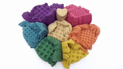 How TO Make Change Color Kineticsand Rainbow Color DAISO Mold