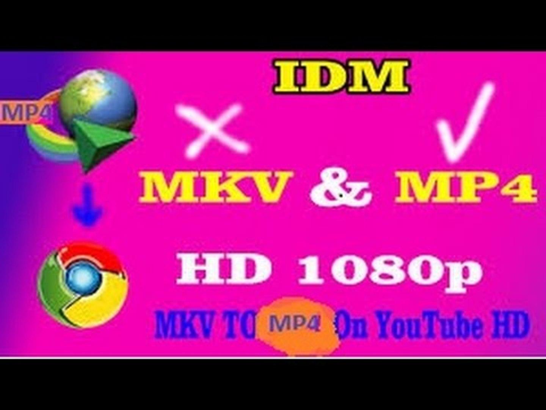 Change Youtube Mkv files to Mp4 on Google Chrome Download Through IDM