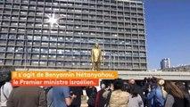 Israël : une statue satirique de Benyamin Nétanyahou déboulonnée