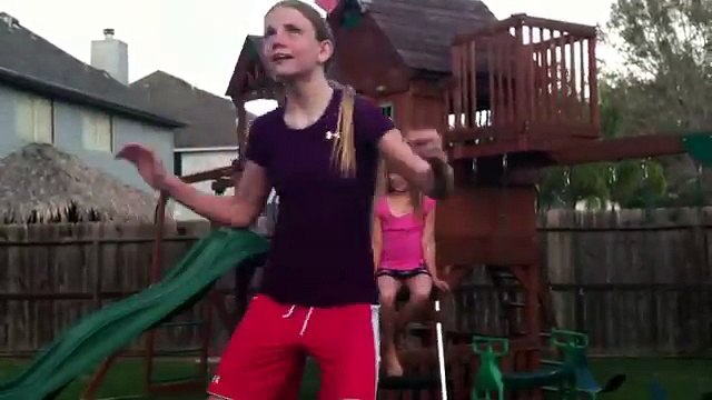 Girl pees on herself