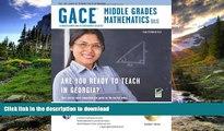 Pre Order Georgia GACE Middle Grades Math (013) w/ CD-ROM (Georgia GACE Test Preparation)  On Book