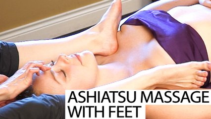 Upper Body Chest & Neck Massage Using Feet! Ashiatsu Barefoot Deep Tissue Techniques