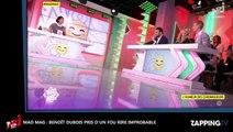 Mad Mag : Benoît Dubois pris d'un fou rire incontrôlable en direct (déo)