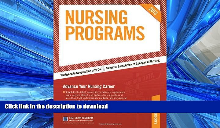 Pre Order Nursing Programs 2013 (Peterson s Nursing Programs) On Book