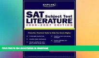 Pre Order Kaplan SAT Subject Test: Literature 2006-2007 (Kaplan SAT Subject Tests: Literature)