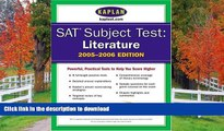 Hardcover SAT Subject Tests: Literature 2005-2006 (Kaplan SAT Subject Tests: Literature)  Kindle