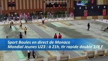 Huitièmes de finales du tir rapide en double, Sport Boules, Mondial Jeunes, Monaco 2016