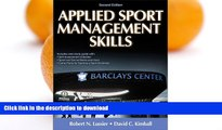 Hardcover Applied Sport Management Skills-2nd Edition With Web Study Guide Full Download
