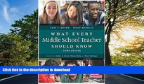 READ What Every Middle School Teacher Should Know, Third Edition  Kindle eBooks