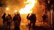 Ismét összecsapássá fajult az évi erőszakos tüntetés Athénban