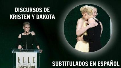 Discursos SUBTITULADOS de Dakota y Kristen en la gala 'ELLE Women in Hollywood'