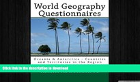 Hardcover World Geography Questionnaires: Oceania   Antarctica - Countries and Territories in the