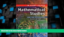 Price Mathematical Studies for the IB Diploma: Study Guide (International Baccalaureate) Scott