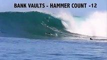 Ces surfeurs vont passer à la machine à laver... Chutes dans des vagues géantes