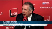 """La folle accusation de François Bayrou contre François Fillon, """"en situation d'allégeance"""" avec la Russie de Vladimir Poutine"""