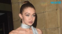Gigi Hadid Sports Red, White and Blue in New York City