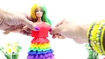 Play Doh Dresses MLP Rainbow Dash Pinkie Pie Applejack Rarity Fluttershy Twilight Sparkle