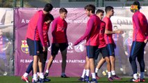 FC Barcelona training session: Nine from FC Barcelona B join Wednesday training