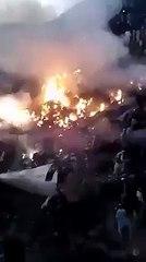 Footage of PIA Plane Crash - Juanid Jamsheed Died