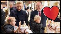 Charlène de Monaco et le prince Albert II : Leurs jumeaux découvrent le village de Noël