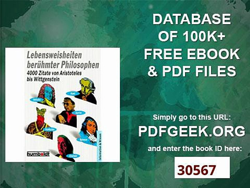Lebensweisheiten Berühmter Philosophen 4000 Zitate Von Aristoteles Bis Wittgenstein