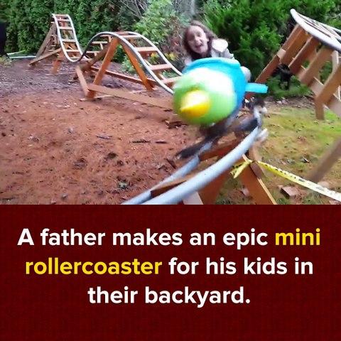 Çocuklarına Roller Coaster Yapan Çılgın Baba