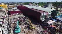 Indonésie: images aériennes de dégâts du séisme