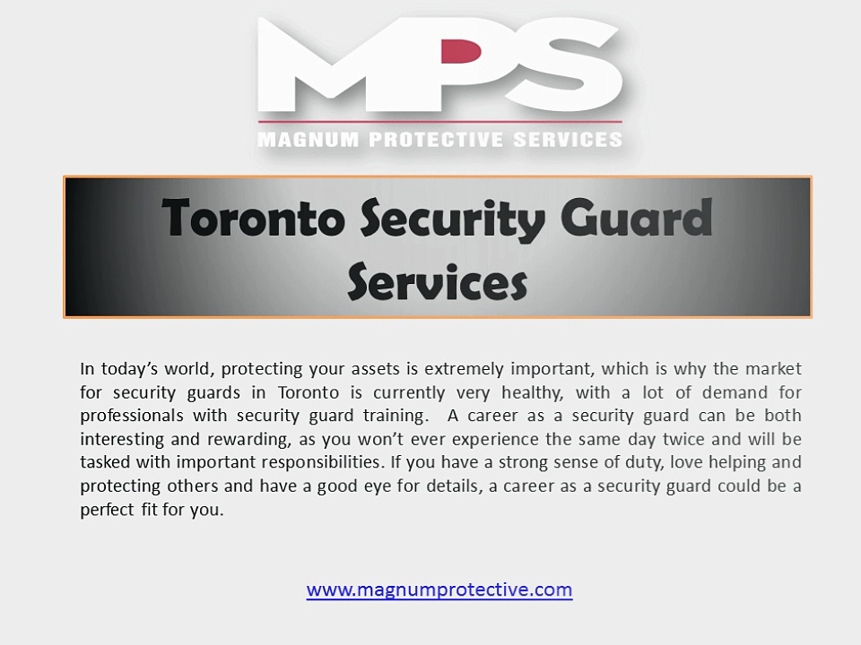 Toronto Security Guard Services | Magnum Protective Services