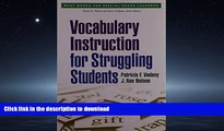 Pre Order Vocabulary Instruction for Struggling Students (What Works for Special-Needs Learners)