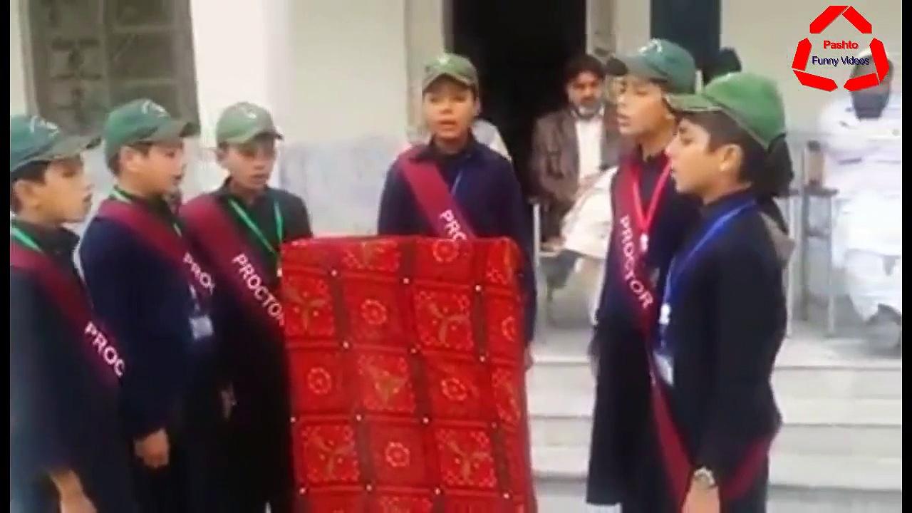 Pashto Funny Videos School Kids Singing Song Tarana