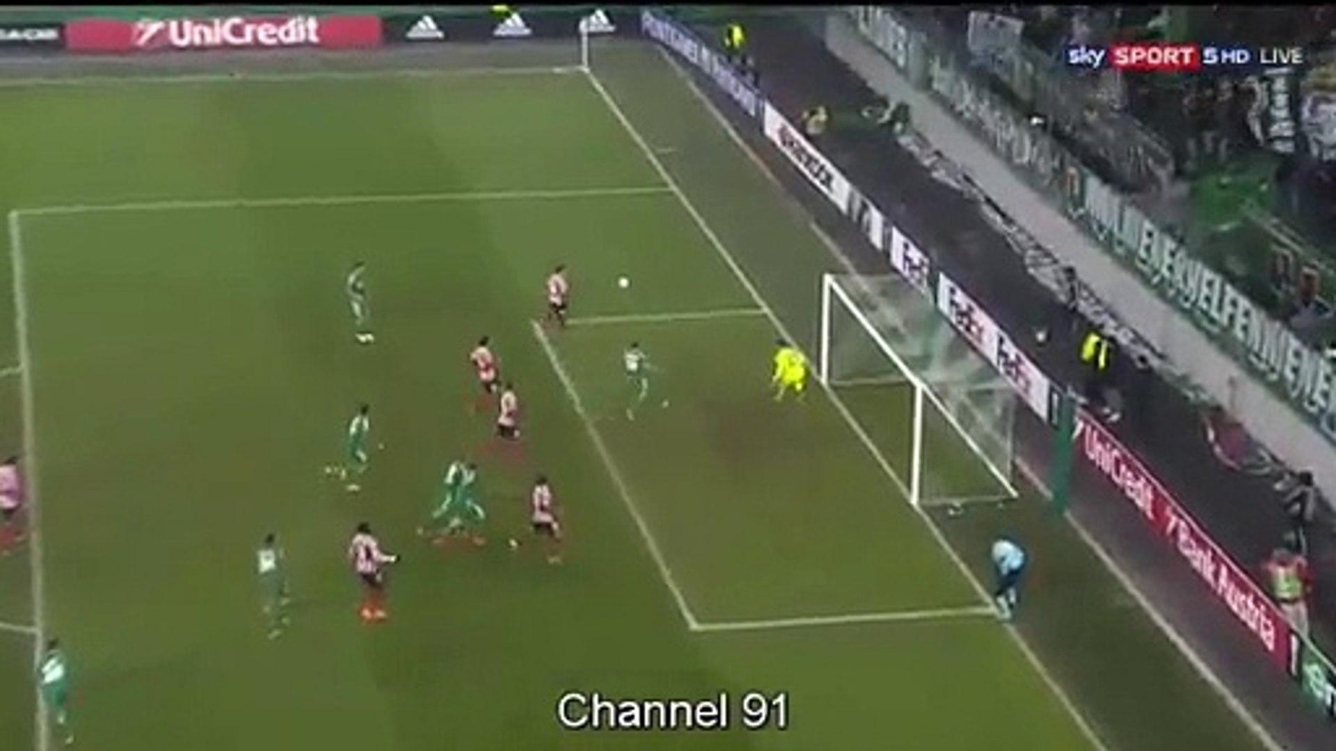 Enric Saborit Goal Hd Sk Rapid Wien 1 1 Athletic Bilbao 08 12 2016 Hd Video Dailymotion