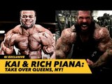 Kai Greene & Rich Piana Take Over Queens, NY   Natural Body Block Party Event