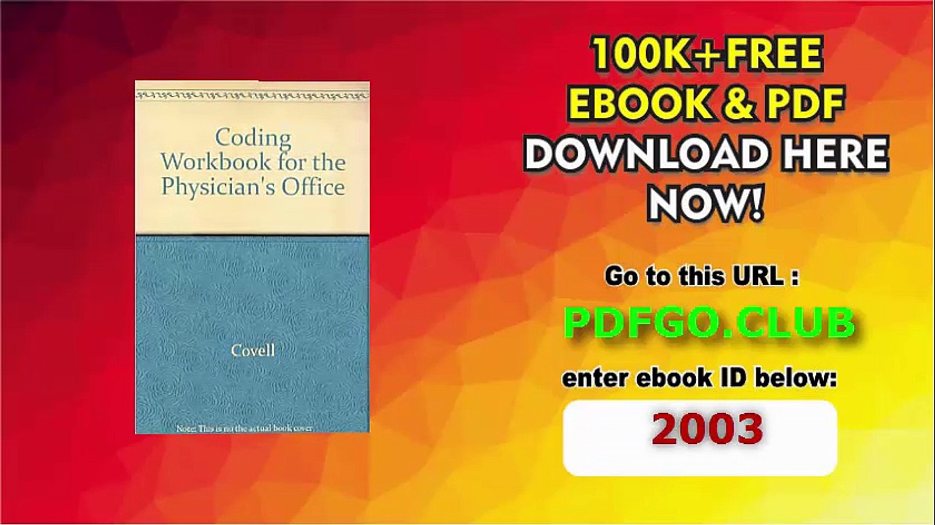 2001 Coding Workbook for the Physician's Office Paperback – 2001