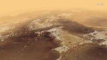 2 minutes d'un vol au-dessus de Mars