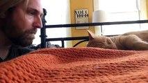 Son chat le réveille chaque nuit, il se venge pendant sa sieste