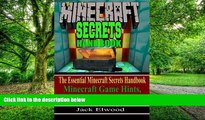 Pre Order Minecraft: The Essential Minecraft Secrets Handbook: Minecraft Game Hints, Tips,
