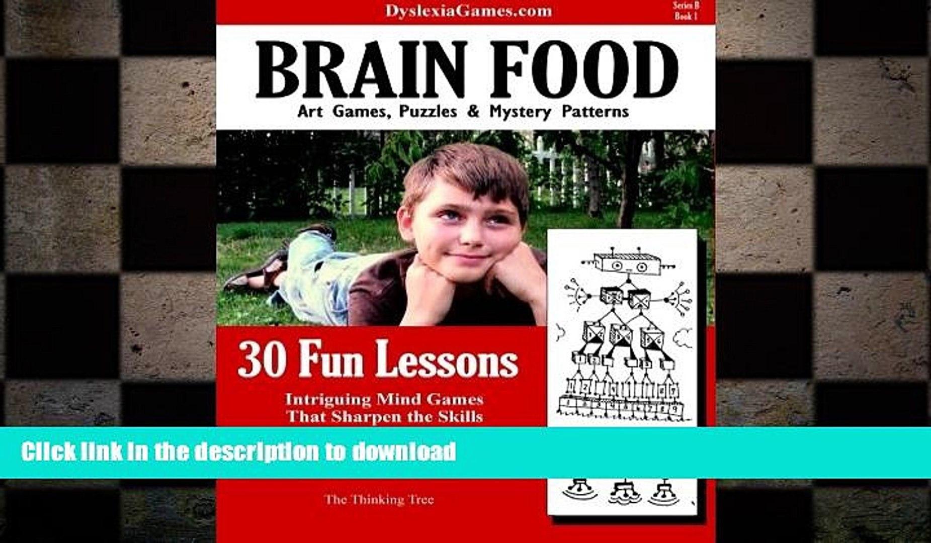 Hardcover Dyslexia Games - Brain Food - Series B Book 1 (Dyslexia Games Series B) (Volume 1) Full