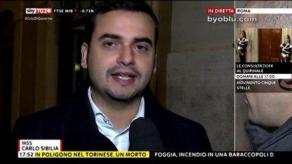 CARLO SIBILIA (M5S): BASTA GOVERNI IMPOSTI, ORA POTERE AL POPOLO!