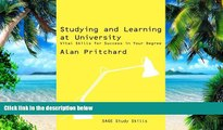 Pre Order Studying and Learning at University: Vital Skills for Success in Your Degree (SAGE