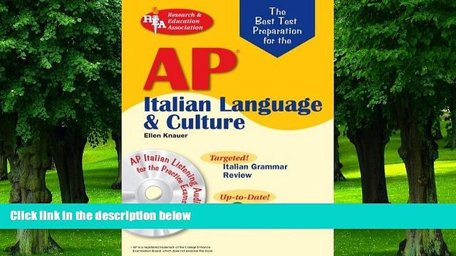 Buy NOW  AP Italian Language and Culture w/ Audio CDs (Advanced Placement (AP) Test Preparation)
