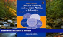 Audiobook Ethical Leadership and Decision Making in Education: Applying Theoretical Perspectives
