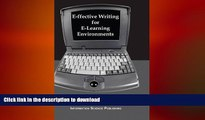 Pre Order E-ffective Writing for E-Learning Environments (Cases on Information Technology) Full Book