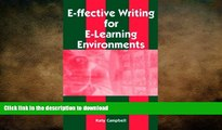 Hardcover E-Ffective Writing for E-Learning Environments On Book